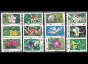 Nauru 1991, Michel Nr. 375-86, Freimarken Blumen