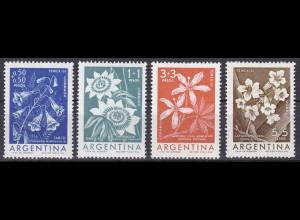 Argentinien Argentina 1960, Michel Nr. 754-57, Blumen