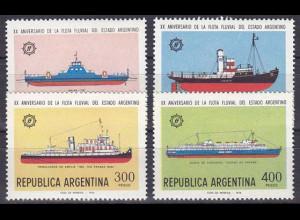 Argentinien Argentina 1978, Michel Nr. 1364-7, Flussschiffflotte