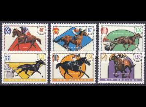 Argentinien Argentina 1996, Michel Nr. 1475-80, Rennpferde