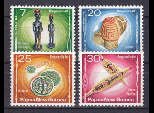 Papua Neuguinea Papua New Guinea 1976, Michel Nr. 302-05, Kunsthandwerk