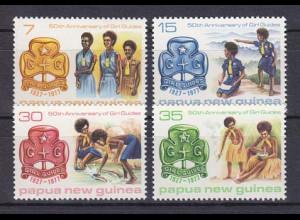 Papua Neuguinea Papua New Guinea 1977 Michel Nr. 329-32 Pfadfinder