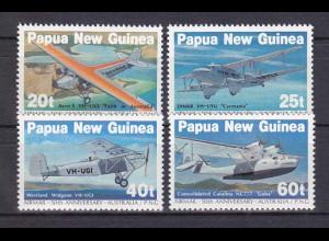 Papua Neuguinea Papua New Guinea 1984,Nr. 473-76, Flugzeuge. Flugpostverbindung.