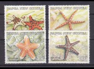 Papua Neuguinea Papua New Guinea 1987, Nr. 553-56, Seesterne.