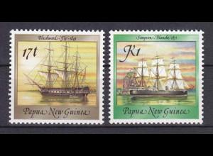 Papua Neuguinea Papua New Guinea 1988 Michel Nr. 565-66 Schiffe
