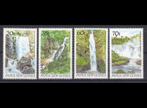 Papua Neuguinea Papua New Guinea 1990 Michel Nr.610-13 Wasserfälle