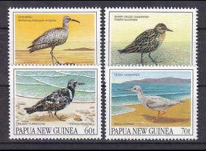 Papua Neuguinea Papua New Guinea 1990, Michel Nr. 623-26, Zugvögel