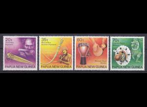 Papua Neuguinea Papua New Guinea 1990, Michel Nr. 627-30, Musikinstrumente