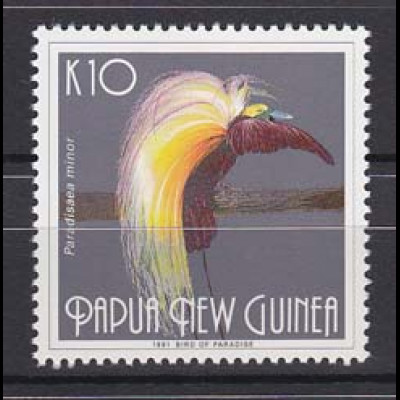 Paradiesvogel Papua Neuguinea Papua New Guinea 1991 Michel Nr. 635