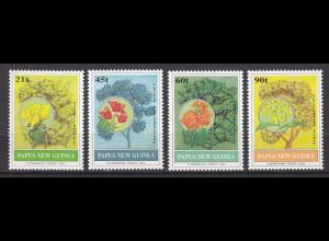 Papua Neuguinea Papua New Guinea 1992, Michel Nr. 668-71, Bäume