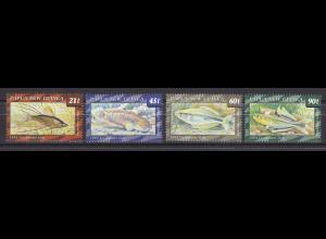 Papua Neuguinea Papua New Guinea 1993, Michel Nr. 689-92, Süßwasserfische