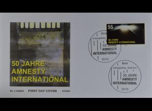 Bund BRD Ersttagsbrief FDC Mi.Nr. 2873 50 Jahre Amnesty International 9.6.2011