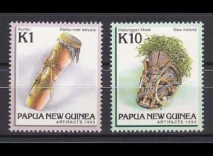 Papua Neuguinea Papua New Guinea 1995, Michel Nr. 744-45, Kunsthandwerk