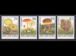 Papua Neuguinea Papua New Guinea 1995, Michel Nr. 750-53, Pilze