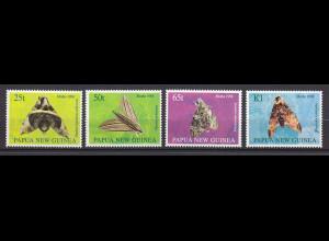 Papua Neuguinea Papua New Guinea 1998, Michel Nr. 824-27, Nachtfalter