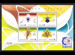Papua Neuguinea 1995, Block 7, Orchideen