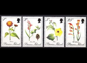 Pitcairn 1970, Michel Nr. 110-13, Blumen, Blüten, u. a. Wandelröschen