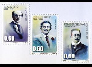 Claus Otto Bildhauer Robert Krieps René Engelmann Luxemburg Briefmarkensatz 2015