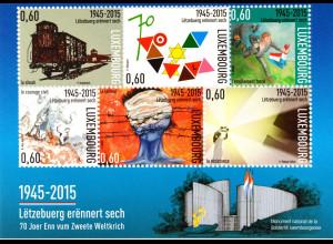 Luxemburg 2015, Block 35, 70. Jahrestag der Beendigung des Zweiten Weltkriegs