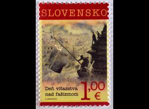 Slowakei Slovakia 2015, Michel Nr. 765, 70. Jahrestag Ende 2. Weltkrieg