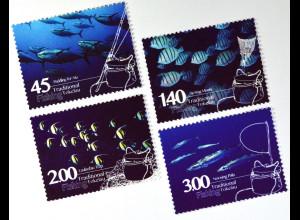 Tokelau Inseln 2015 Michel Nr. 460-63 Traditionelles Fischen