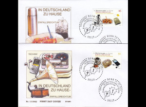 in Deutschland zu Hause Bund Ersttagsbriefe vom Jahre 2011