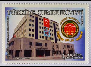 Türkei Turkey 2015, Michel Nr. 4166, 100 Jahre Milit.Berufungsgericht, 1 Wert