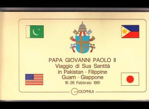 Vatikan, Papstreisebelege- Papst Johannes Paul II 16.-26.02.1981