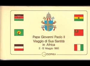 Vatikan, Papstreisebelege - Papst Johannes Paul II 02.-12.05.1980