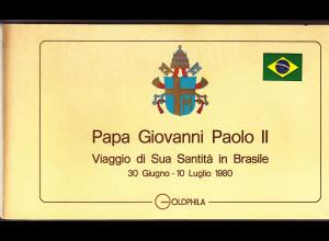 Vatikan, Papstreisebelege - Papst Johannes Paul II 30.06. - 10.07.1980