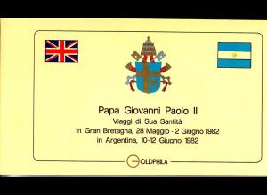 Vatikan, Papstreisebelege - Papst Johannes Paul II 28.05. - 02.06.1982