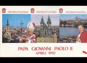 Vatikan, Papstreisebelege - Papst Johannes Paul II 21. - 22. 04.1990