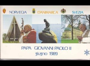 Vatikan, Papstreisebelge - Papst Johannes Paul II 01. - 10.06.1989