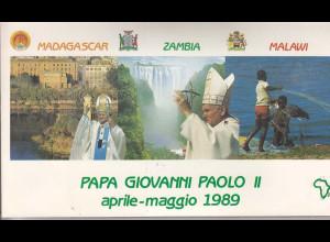 Vatikan, Papstbelege - Papst Johannes Paul II 28.04. - 06.05.1989