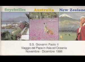 Vatikan, Papstreisebelege - Papst Johannes Paul II 18.11. - 01.12.1986