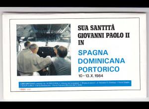 Vatikan, Papstreisebelege - Papst Johannes Paul II 10. - 13.10.1984