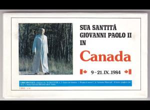 Vatikan, Papstreisebelege - Papst Johannes Paul II 09. - 21.09.1984