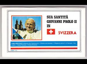Vatikan, Papstreisebelege - Papst Johannes Paul II 1984 - Schweiz Folder