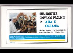 Vatikan, Papstreisebelege - Papst Johannes Paul II 1984 -Asien und Ozeanien
