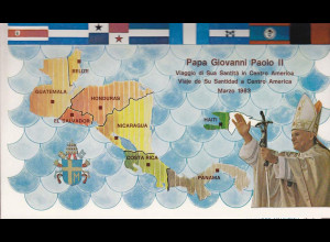 Vatikan Papstreisebelege Papst Johannes Paul II März 1983 Mittelamerika
