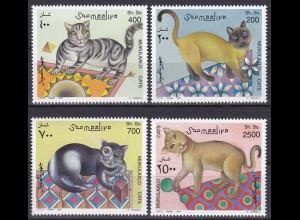 Somalia 1997, Michel Nr. 624-27, Katzen