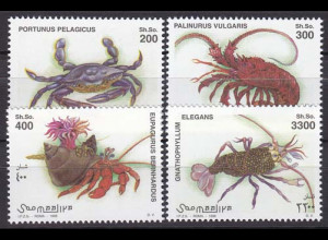 Somalia 1998, Michel Nr. 705-08, Krebstiere