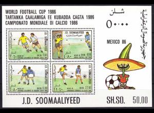 Somalia 1986, Michel Nr. Block 21, Fußball WM Mexiko