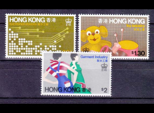 Hongkong, 10 kpl. Sätze aus den Jahren 1979-1986, ... siehe alle Bilder!