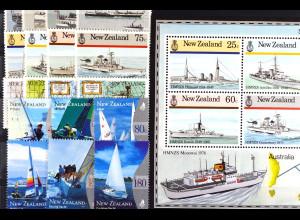 Neuseeland New Zealand, Motiv Schiffe aus den Jahren 1984 - 99, siehe Bilder