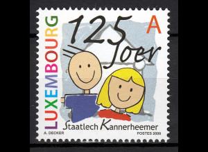 Luxemburg 2009 Michel Nr. 1833 125 Jahre staatliche Kinderheime in Luxemburg