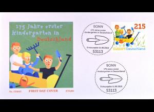 Bund BRD Ersttagsbrief FDC Michel Nr. 3158, 150 J. Kindergärten, 11. Juni 2015