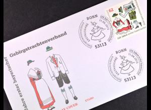 Bund BRD Ersttagsbrief FDC, Nr. 3159, bayerischer Trachtenverband, 11. Juni 2015