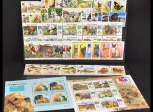Neuseeland, Tiermotive aus den Jahren 1991-99, 10 Sätze + 2 Blöcke, siehe Bilder