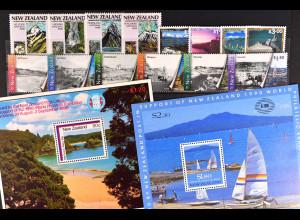 Neuseeland New Zealand, Landschaften aus den Jahren 1986 - 2000, siehe Bilder
